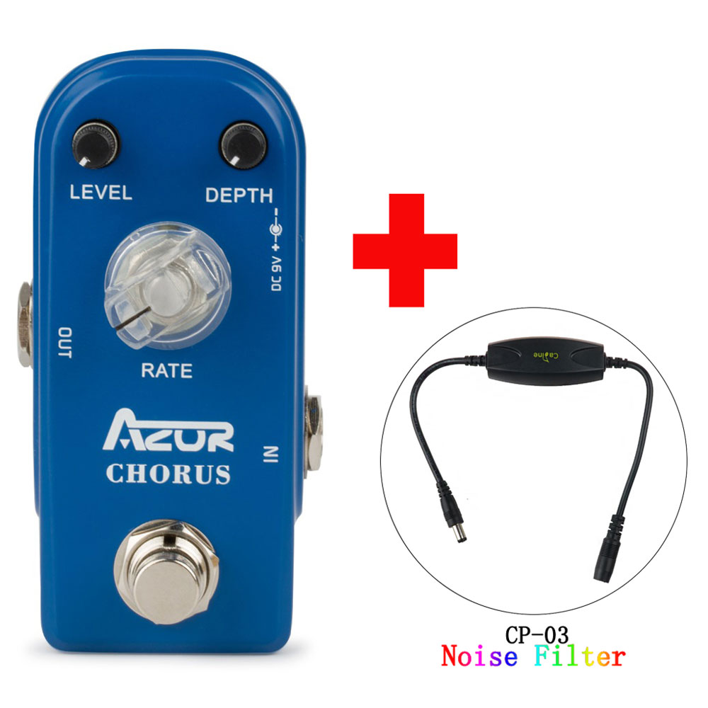 AP-309 Chorus Mini Guitar Effect Pedal with Ture Bypass and Caline CP-03 Noise Filter mooer ensemble queen bass chorus effect pedal mini guitar effects true bypass with free connector and footswitch topper