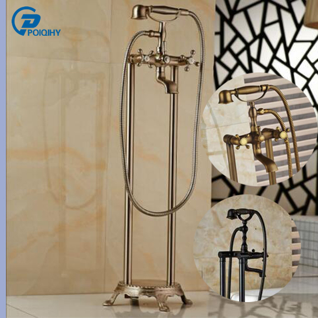 with faucet product rubbed clawfoot deck tub oil home hand bronze shower garden claw mount faucets