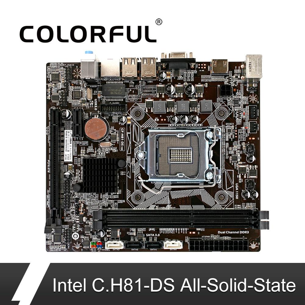 100% Wahr Bunte C.h81-ds Motherboard All-solid-state Intel H81/lga 1150 Ddr3 Sata3.0 Mainboard Matx Lga1150 Usb3.0 Desktop Boards Kunden Zuerst