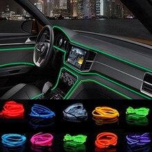 Интерьер светодио дный LED EL провода веревка трубки полосы для bmw e46 e39 ford focus 2 toyota passat b6 peugeot 307 chevrolet cruze skoda