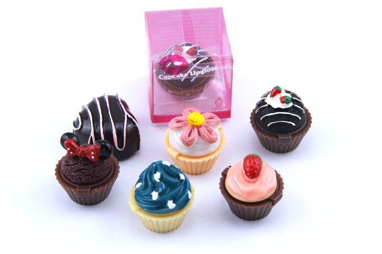 6 szín új design aranyos torta alakú ajakbalzsam ajakfény ajakrúzs matt ajkak smink beállítása ajándékok barátok