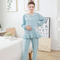 Maternity Women Breastfeeding Sleepwear Nursing Pajamas Sets Pregnant Lounge Pregnancy Home Clothes Leisure Wear 2019 Spring New