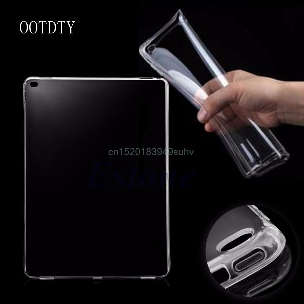 OOTDTY Ultra Thin Soft Crystal Clear Transparent Shell Tablet accessories Gel Skin TPU Case Cover For iPad Pro Tablet 12.9 soft silicon tpu case for apple ipad pro 9 7 back cover tablet ultra thin clear transparent fundas protective bags skin shell