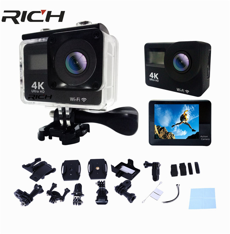 Dhl F65r Allwinner V3 Imx179 4 Karat Action Kamera 2,0 Doul Lcd Touch Screen Wifi Kamera 30 Mt Wasserdichte 170 Winkel Hdmi Sport Kamera Unterhaltungselektronik