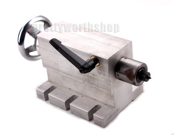 65mm Live Rotary Tailstock, Rotary Jaw Chuck Working Piece Tail Block for CNC Router Lathe ...