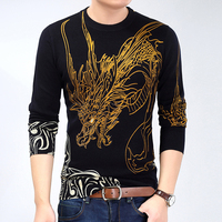 2017 New Autumn Brand clothing Men Sweaters Pullovers Knitting fashion Designer Casual Man Knitwear