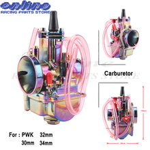 Motorcycle PWK 28mm 30mm 32mm 34mm Carburetor Carburador Carb for 110cc - 250cc 2T 4T two stroke Engine Scooter Dirt Pit Bike prison pit book two