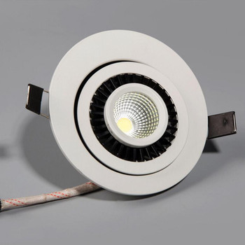 Free Shipping 7W Dimmable Recessed COB Led Ceiling Down light 360 degree rotation Led Spot lamp AC85-265V цена 2017