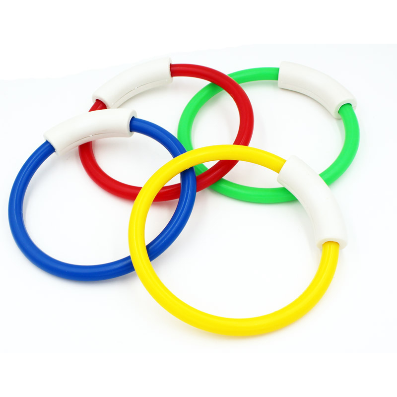 4 Pcs/Pack 2018 Child Kid Diving Ring Water Toys Underwater Swimming Pool Diving Buoys Four Loaded Throwing Toys Children Gift
