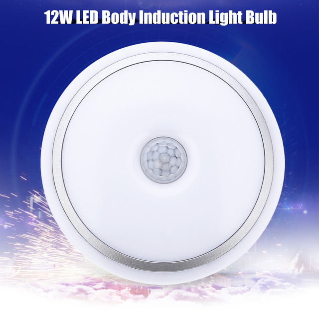 10pcs Led Ceiling Light Household Office Lighting 12w E27 Pir Infrared Motion Sensor Flush Mounted