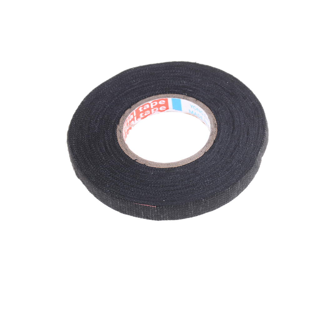Hot Sale 1pc Cable Protection Heat Resistant Wiring Harness Tape Gets Looms Cloth Adhesive Fabric 9mm X 15m