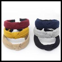 Women Headband Twist Hairband Bow Knot Cross Tie Velvet Headwrap Hair Band  Hoop Hair Accessories( e9c28dbc6cc2
