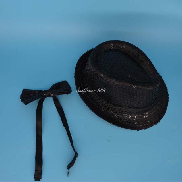 f0a82c1b5bf Women Men Adult Sequin Bow Tie Fedora Hat Jazz Cap for Dance Show  Performance Hats Party Christmas Halloween Navidad