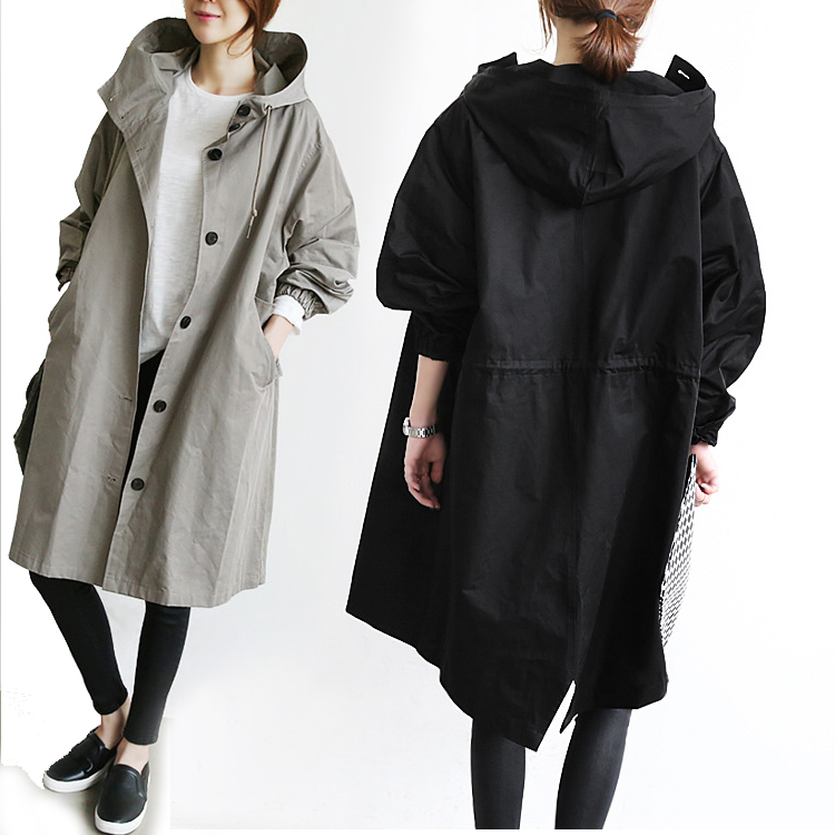 Outerwear Spring Autumn Trench Loose Female Medium-Long Fashion And 24077 Bf