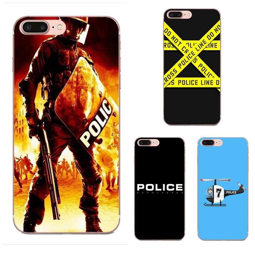 Oedmeb Soft Silicone TPU Transparent Protective Police Symbol For Samsung  Galaxy A3 A5 A7 J1 J2 J3 J5 J7 2015 2016 2017