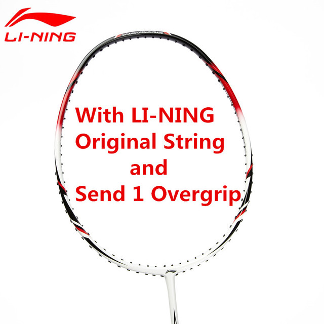 Li-Ning Badminton Racket Light Weight Carbon Li Ning High Quality Sports Suit for Beginners with Overgrip&String AYPG356 L668OLA