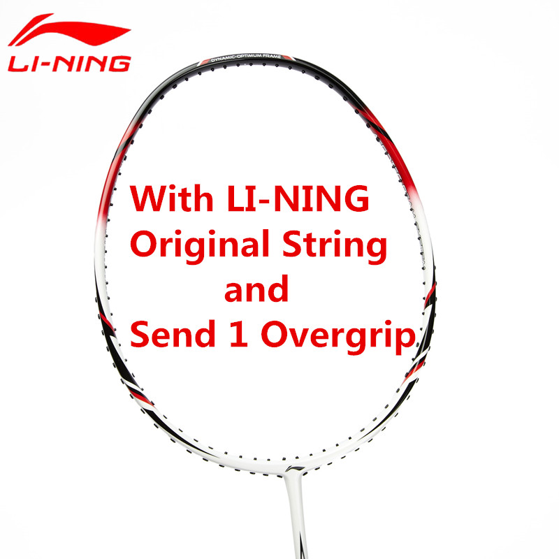 Li-Ning Badminton Rackets Light Weight Carbon Li Ning High Quality Sports Suit for Beginners With Overgrip&String AYPG356 L668 yonzhenx 2017 new 3u badminton rackets super light g3 high tension full carbon professional badminton racquet with original bag