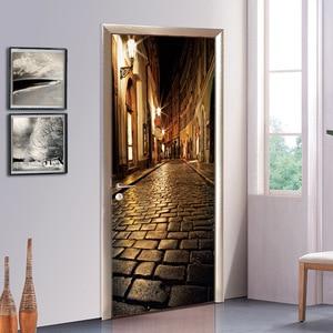 Image 4 - 러시아 성 영국 빅 벤 3d 도어 스티커 벽화 아트 벽지 포스터 스티커 자기 접착제 이동식 홈 도어 데칼