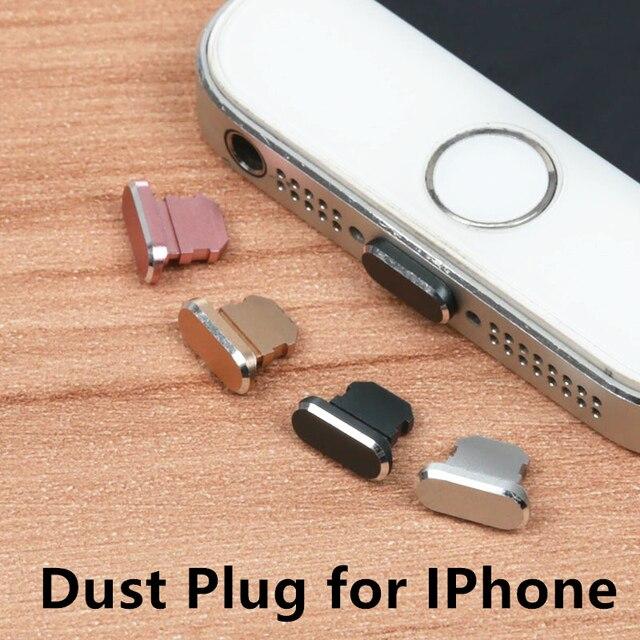 Siancs алюминиевый сплав пылезащитный Разъем мобильного телефона зарядки порты и разъёмы пробки для Apple Iphone 4 5 5S 6 6S 7 8 X плюс серебристый, черны