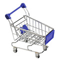 Mini Supermarket Handcart Shopping Utility Cart Mode Storage Toy Blue  TB Sale