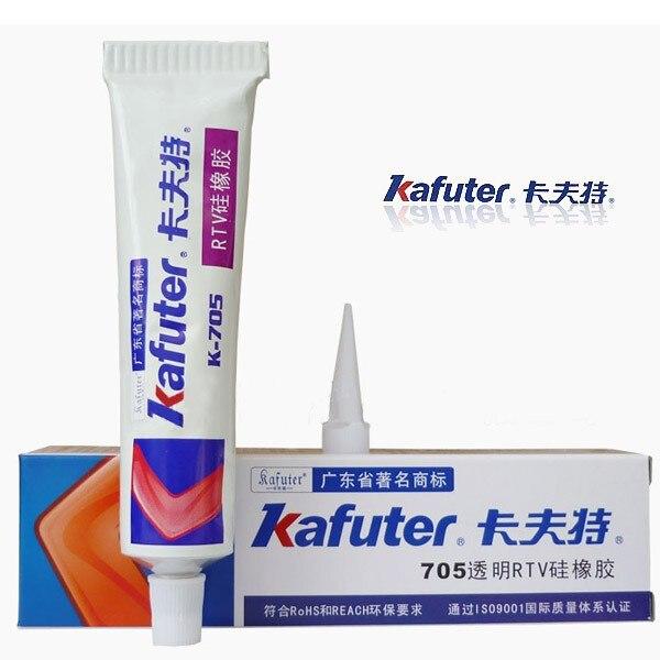 Free shipping Genuine Kafuter k-705 RTV Silicone Rubber Electronic Glue Sealant Transparent Organosilicon 45g