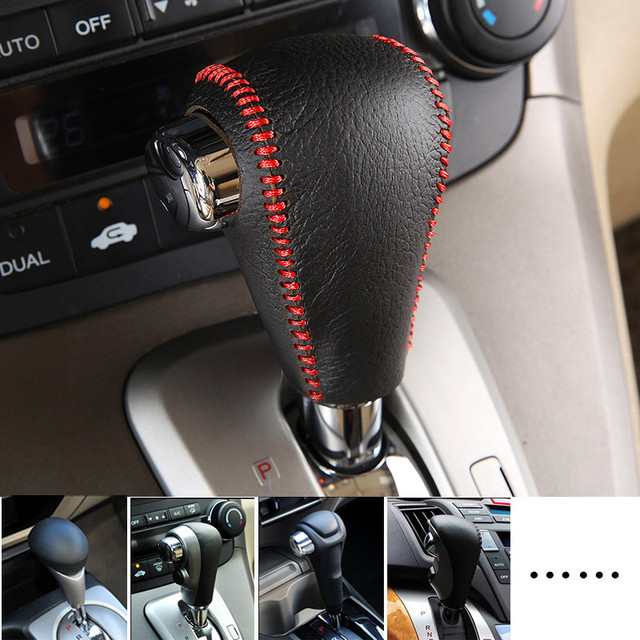 Car Genuine Leather Gear Shift Collars Cover For Honda Civic Accord Crv Fit Integra S2000 Ep3 Fn2 Fd2