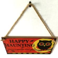 Harvest Festival Wooden Hanging Sign Door Halloween Decoration Thanksgiving Supplies
