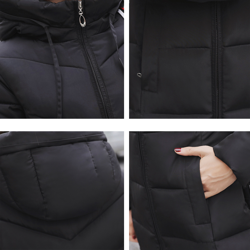 Plus Size 4XL 5XL 6XL womens Winter Jackets Hooded Stand Collar Cotton Padded Female Coat Winter Women Long Parka Warm Thicken 41
