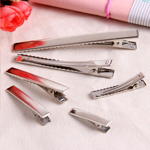 30PCS/Lot High Quality 3.2-5.5cm Silver-Color Black Hair Clips Flat Barrettes Iron Hairpins DIY Hair Accessories For Women Girls