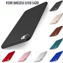 Для Meizu U20 Case Мягкая Матовая Кожа Жесткого Пластика Телефон Case Задняя Крышка для Meizu U10 Case Meizu U 20 10 16 ГБ 32 ГБ 5 ». 5» Coque