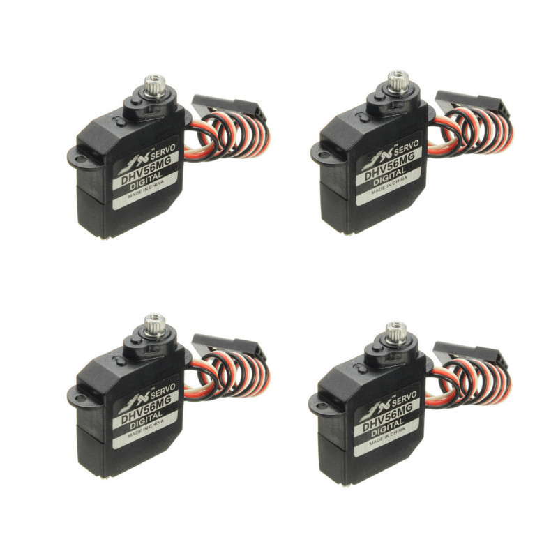 4PCS JX Servo DHV56MG 5.6g DS Digital Coreless MG Metal Gear HV Servo 1.2kg 0.10secor RC Car Robot Airplane Aircraft Drone