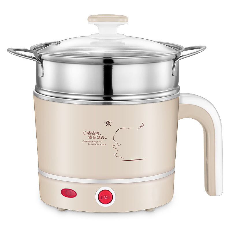 Mini Electric Food Steamers Pans Multifunctional Small Electric Hot Pots Heating Cup 1 2L for Steamer