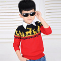 New Autumn 2016 Korean Boy's Sweater Fashion Pullover Outwear Children's Knitted Sweaters