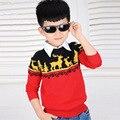 Nuevo Otoño 2016 de Corea Del Suéter de La Manera del Muchacho Outwear niños Sweaters tejidos