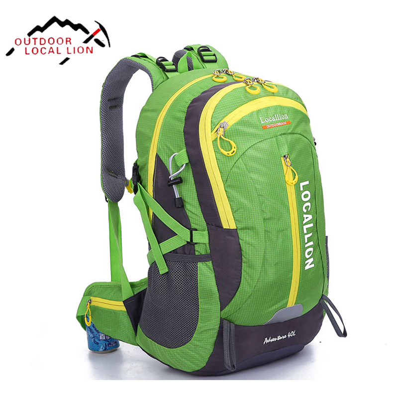 LOCAL LION Hiking Backpack Women Men Mountaineering Bags Waterproof Outdoor Sports Bag Backpack Camping Traveling Rucksack 40L car mp3 interface usb sd aux digital music changer for fiat panda 2004 2010 fits select oem radios