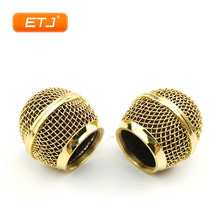 Polished Gold 2pcs SM58s/Beta58 Mesh Grille Ball Metal Ball For Shure Microphone Accessories