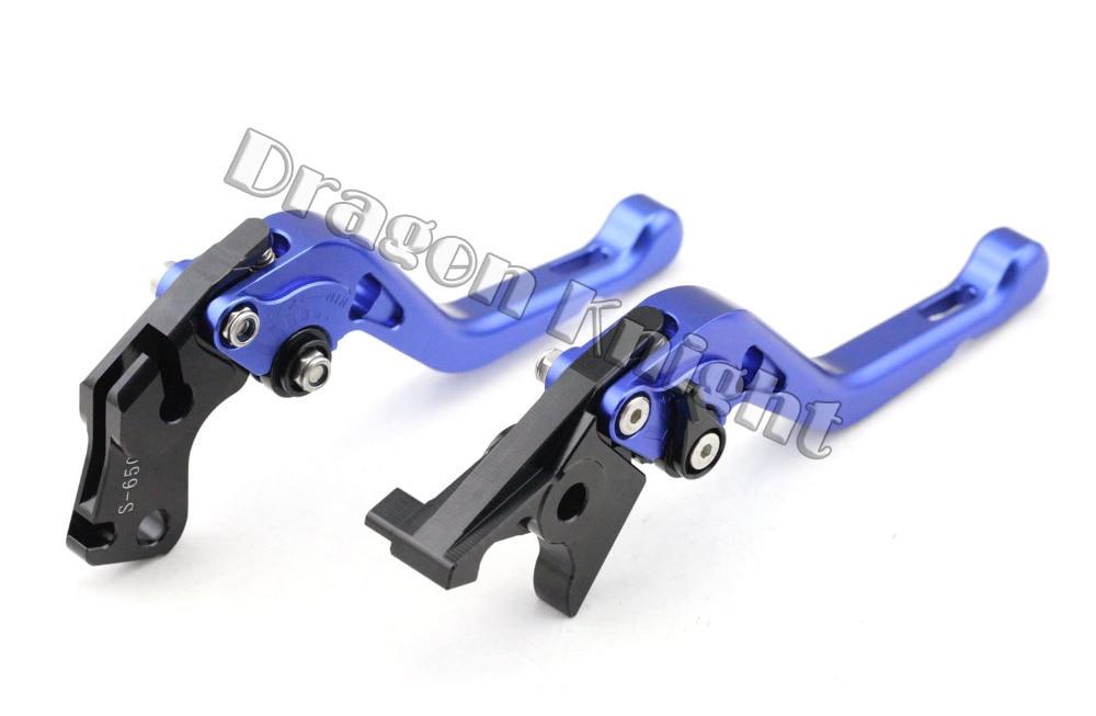Motocycle Accessories For SUZUKI DL 650/V-STROM 2004-2010 Short Brake Clutch Levers Blue adjustable short straight clutch brake levers for suzuki gsx 650 f gsf 650 bandit n s dl 1000 v strom 2002 2015