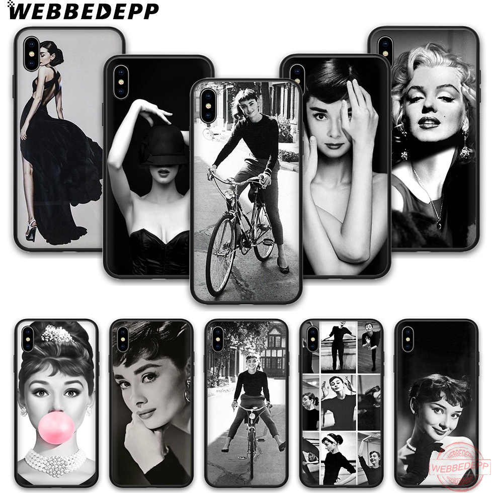 WEBBEDEPP Audrey Hepburn soft silicone phone case for iPhone 5 6 7 8 Plus X XS XR XS Max.11 11peo 11proMax