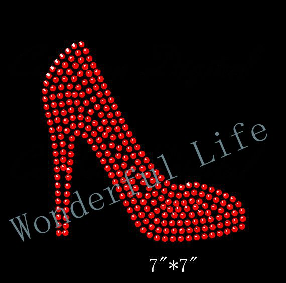 Free Shipping High Heel Rhinestone Iron On Transfer Hot Fix Bling-in ... aa755d4a615c