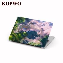 KOPWO Unicorn Laptop Protective Case for Apple Macbook Air Pro 11 13 15 Inch Plastic Cartoon Notebook Cover Coque Macbook Air 13
