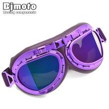 851d191b64754 BJMOTO Capacete Piloto aviador Steampunk do vintage óculos de proteção  óculos de Motociclista motocross goggles Motocicleta