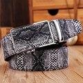 [TG] o Transporte da gota de Luxo Homens De Couro Cinto de Fivela Automática cinto de couro de cobra pele masculina men cinto de cintura cinto Strap Ceinture
