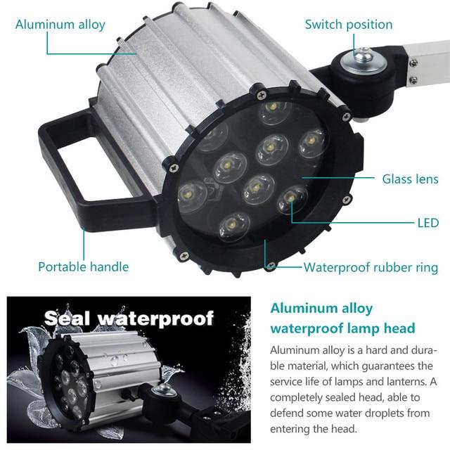 Details about  /For CNC Machine 7W Milling Aluminium Long Arm Work Light LED High Power Lamps