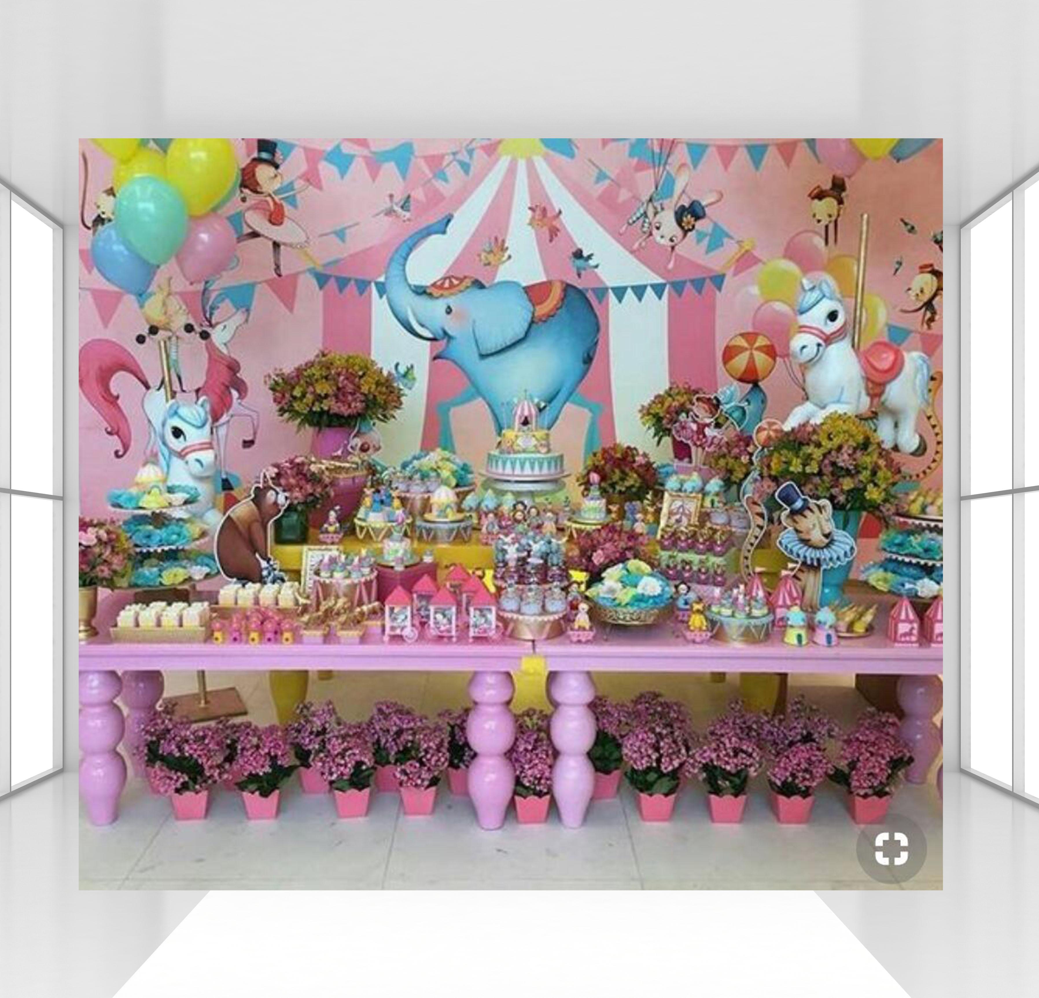 Enjoyable Circo Circus Theme Birthday Party Backdrop Photocall Photography Personalised Birthday Cards Paralily Jamesorg