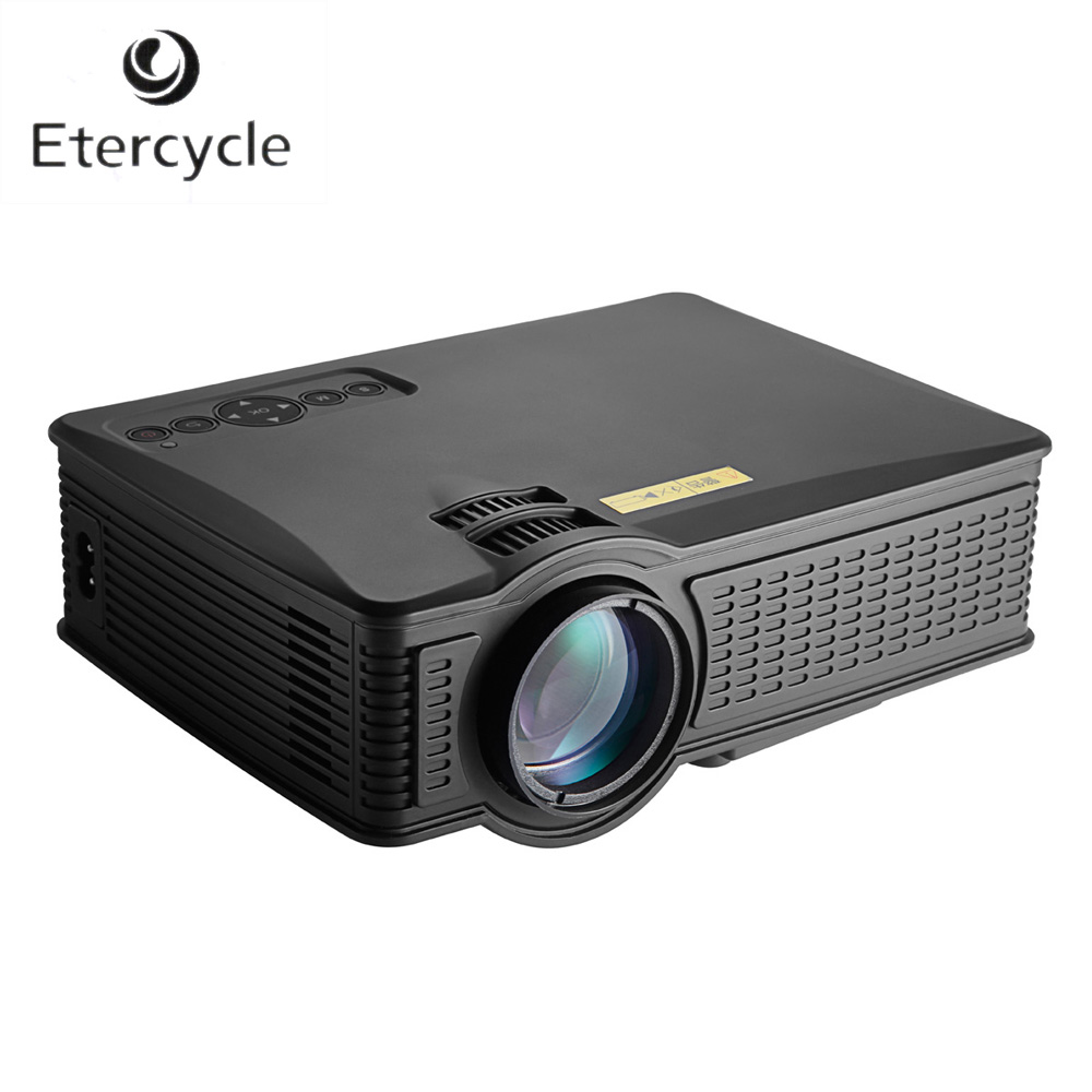1000lumens Full HD LED Home Cinema Projector 800x480P LCD USB SD HDMI AV VGA Interface Proyector