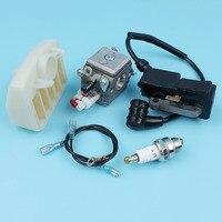 Carburetor Air Filter Ignition Coil Module Kit For Husqvarna 340 345 346 350 353 Chainsaw Spark Plug [#503283208] Zama Carb