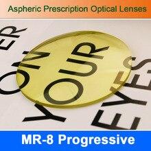 MR-8 Super Tough Tinted Progressive Aspheric Prescription Lens Eyeglasses Optical Lenses for Diamond Cutted Rimless Glasses
