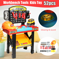 52pcs Workbench Toy Kids Workbench Pretend Play Tool Set for Children Role Play Toy Gifts
