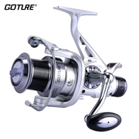 Goture Saltwater Spinning Fishing Reel 5000 6000 Double Brakes System Feeder Fishing Wheel 6 1BB 5