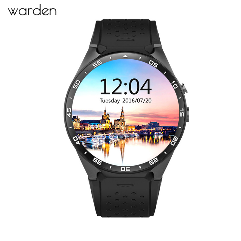 2018Hot Kingwear Kw88 Android 5.1 OS Smart watch 1.39 Inch 400*400 SmartWatch Phone Support 3G4G Wifi Nano SIM WCDMA Heart Rate